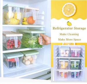 Refrigerator Storage Boxes Kitchen Containers Contain Sealed Home Organizer Food Container - Kaya Kitchen
