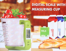 Load image into Gallery viewer, Digital Temperature Measuring Kitchen Cup Kitchen Scales Digital Beaker Electronic Scale with LCD Display - Kaya Kitchen