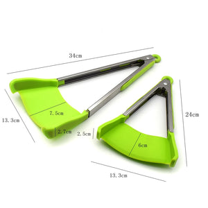 2 in 1 Kitchen Spatula and Tongs Non-Stick