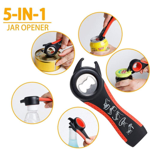 5 in 1 Multi-function Stainless Steel Plastic Bottle Opener