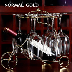 Wine Glass / Bottle Holder Decorative Racks Hanging Glass Goblets Display Rack Iron Wine Stand - Kaya Kitchen