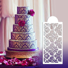 Load image into Gallery viewer, Baking Tool Side Decor Mould Damask Lace Flower Border Fondant Cake Stencil #F - Kaya Kitchen