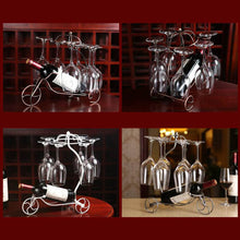 Load image into Gallery viewer, Wine Glass / Bottle Holder Decorative Racks Hanging Glass Goblets Display Rack Iron Wine Stand - Kaya Kitchen
