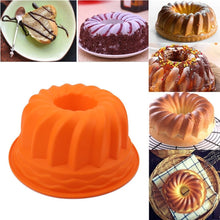 Load image into Gallery viewer, Chiffon Cake Mold Large hollow round 9 inch chiffon cake mold gear plate, silicone cake mold - Kaya Kitchen