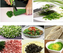 Load image into Gallery viewer, Kitchen 3-5 Multi-Layers scissor Shredded Chopped Herb Laver Scallion Cutter 15CM Minced 5 Layers Basil Rosemary Spices Cook Tool Cut - Kaya Kitchen