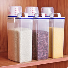Load image into Gallery viewer, 1PCS 2L Plastic Cereal Grain Dispenser Storage Container - Kaya Kitchen