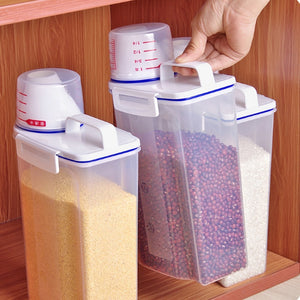 1PCS 2L Plastic Cereal Grain Dispenser Storage Container - Kaya Kitchen
