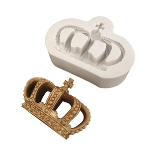 Silicone royal crown cake mold