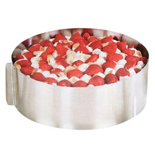 Load image into Gallery viewer, 1Pc Adjustable Stainless Steel Ring 3D Round Cake Molds