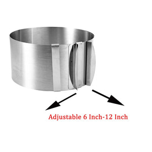 1Pc Adjustable Stainless Steel Ring 3D Round Cake Molds