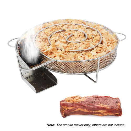 Stainless Steel Barbeque Smoker Wood Chips Burning Tool For Outdoor Cooking