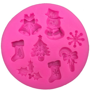 Christmas Snowman Shape fondant silicone mold kitchen baking Tool - Kaya Kitchen