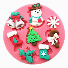 Load image into Gallery viewer, Christmas Snowman Shape fondant silicone mold kitchen baking Tool - Kaya Kitchen