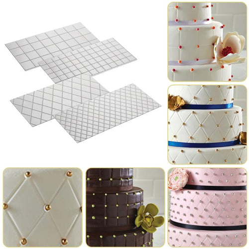 DIY Cake Plastic Transparent Texture Lattic Mat Cake Border Decorating Tools Cake Mold Fondant Gumpaste Stencil Molds Moulds - Kaya Kitchen