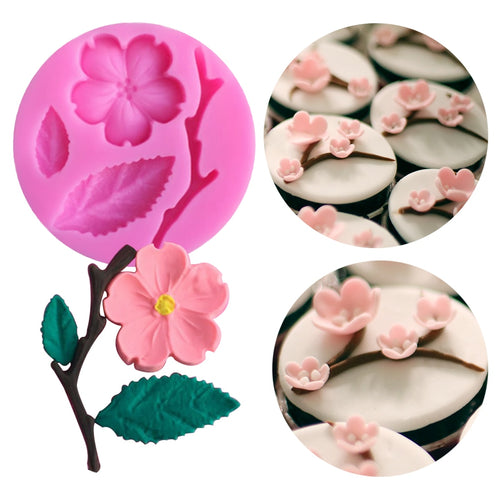 1PC Peach Blossom Shape Fondant Molds Cake Decorating Tools - Kaya Kitchen