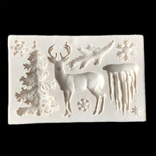 Load image into Gallery viewer, Christmas tree/ Elk/Glacier/Fondant Cake Silicone Mold - Kaya Kitchen
