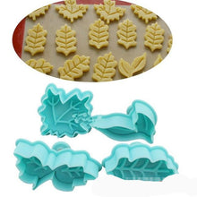 Load image into Gallery viewer, 2 in 1 (4PC) Cookies stamp and Cake Decor Mold - Kaya Kitchen