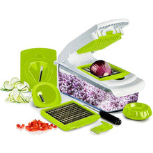 Load image into Gallery viewer, Mandoline Slicer knife Food Chopper Vegetable Cutter Peeler, Slicer,Grater kitchen tool with 7 Dicing Blades, Kitchen accessory - Kaya Kitchen