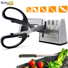 Load image into Gallery viewer, Knife Sharpener 4 Stage Professional Kitchen Sharpening Stone Scissors Grinder Knives Diamond Ceramic Whetstone Tool - Kaya Kitchen