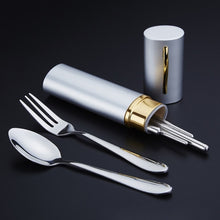 Load image into Gallery viewer, 3PCS/Set Outdoor Spoon Fork Sanitary With Storage Case Tableware - Kaya Kitchen