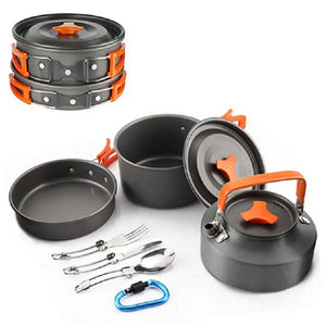 Outdoor Camping Aluminum Alloy Cookware Pots and Kettle - Kaya Kitchen