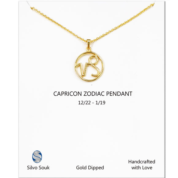 Zodiac Pendant For Capricon
