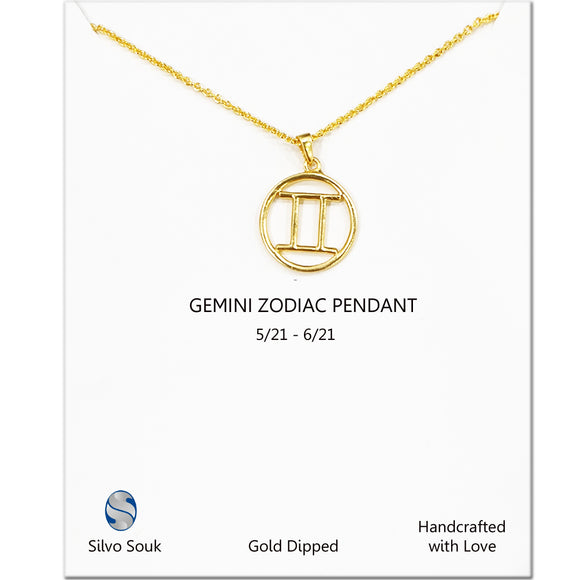 Gemini Sign Necklace