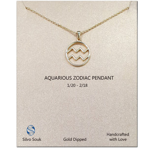 Zodiac Pendant For Aquarius