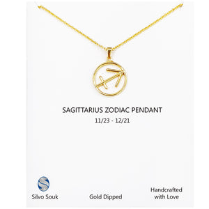 Sagittarius Sign Necklace