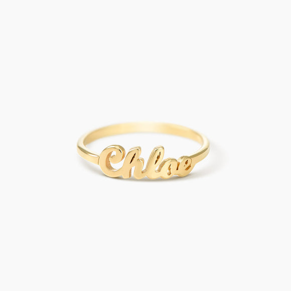 Gold Plated  Name Ring