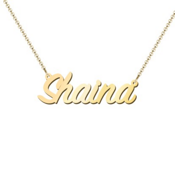 Gold Plated Name Pendant