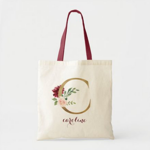 Initial & Name Tote Bag