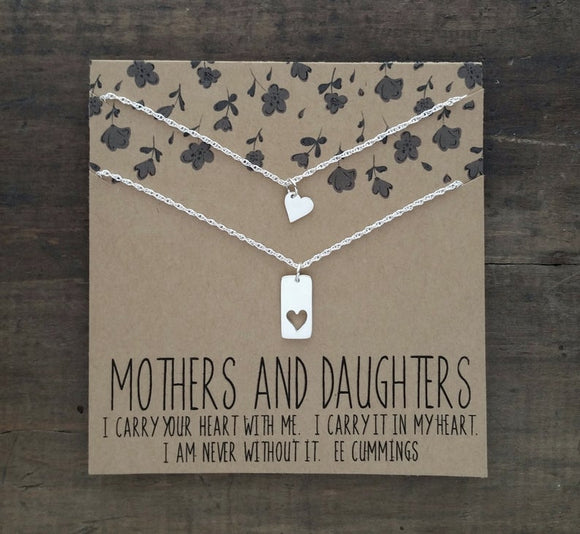 Heart Mother Daughter Pendant