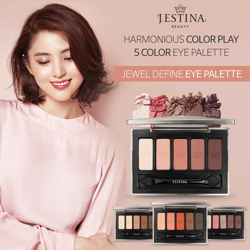 [JESTINA]JEWEL DEFINE EYE PALETTE 3Type5color/wearable color blend/Tenacity Excellent/Brown Haze/V