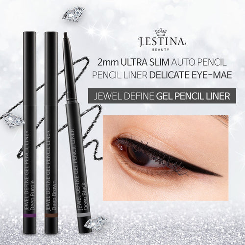 [JESTINA]JEWEL DEFINE GEL PENCIL LINER 3TypeSoft Gel Formula/2mm Ultra Slim Auto Pencil/waterproof