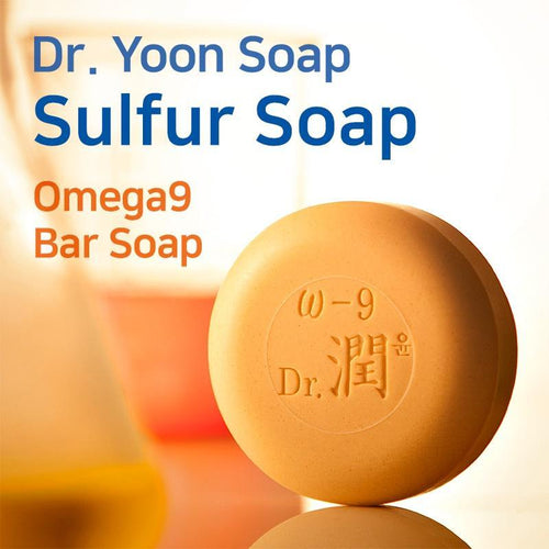 Dr. Yoon Sulfur Soap/Omeaga9 - Bar Soap/Foam Cleansing+Skin-Care Moisturizing/Prevention Hair Loss