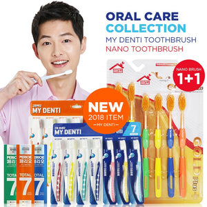 Oral Care CollectionMY DENTI 4+3/GOLD PLUS nano toothbrush 4P 1+1/PERIOE TOOTHPASTE 3ea/Korea