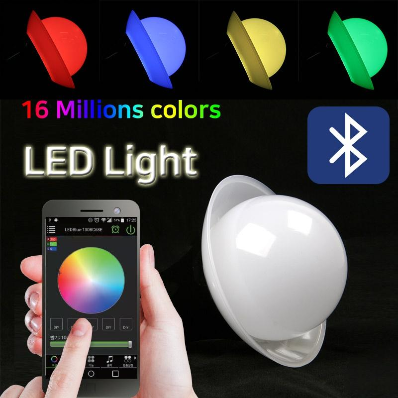 Smart Bulb LED Light/Smart Portable Light/Bluetooth/16 Millions colors/Respond to music or sounds/