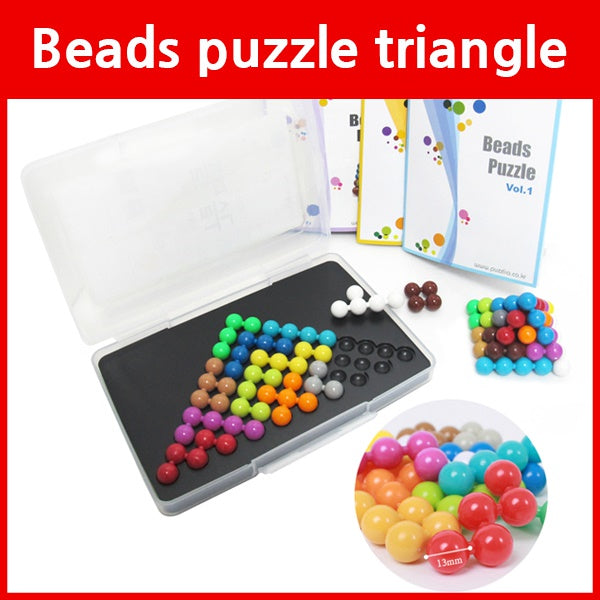 Beads Puzzle triangle /puzzlia/educational toy/EQIQconcentration UP! /toys / kids /puzzles/Children