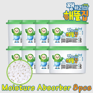 SUNNY HOME Closet moisture absorber 8ea / Desiccant / Odor Removal / Prevents Mold / Bead Type