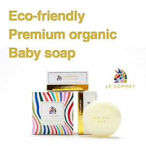 LE SOMMET Premium Pure Organic baby soap safety soap/ health soap/ organic soap/ pure soap/ eco-friendly soap/ vagetable raw materials/ natural pulp packaging/ soft soap/ koamll_024