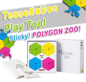 Sticky! POLYGON ZOO Triangular Duck/ Squard Puppy/ Hexagon Lizard A learning tool for creative play