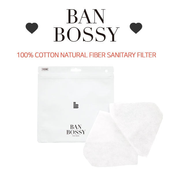[BAN BOSSY]TRANS REFILL MASK100% Cotton natural hygenic filter refill