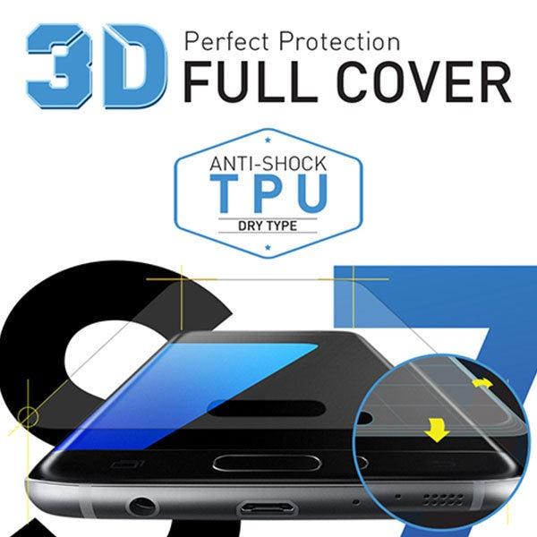 [BIOSHIELD]3D full cover anti-shock screen protector for Galaxy S7 (TPU)