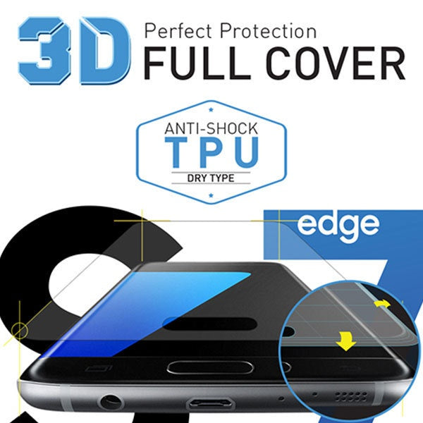 [BIOSHIELD]3D full cover anti-shock screen protector for Galaxy S7 edge (TPU)