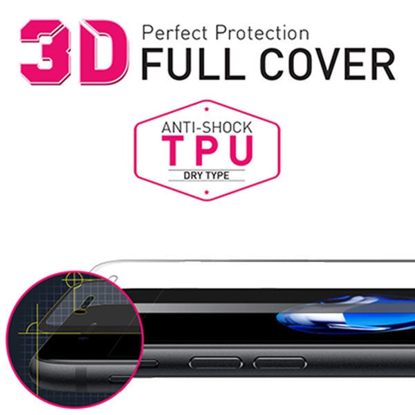 [BIOSHIELD]3D full cover anti-shock screen protector for iPhone 7 (TPU)