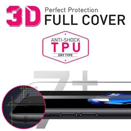 [BIOSHIELD]3D full cover anti-shock screen protector for iPhone 7 Plus (TPU)
