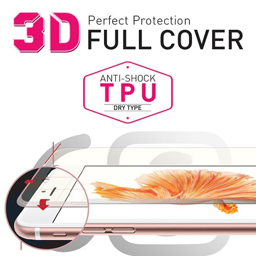[BIOSHIELD]3D full cover anti-shock screen protector for iPhone 6S (TPU)