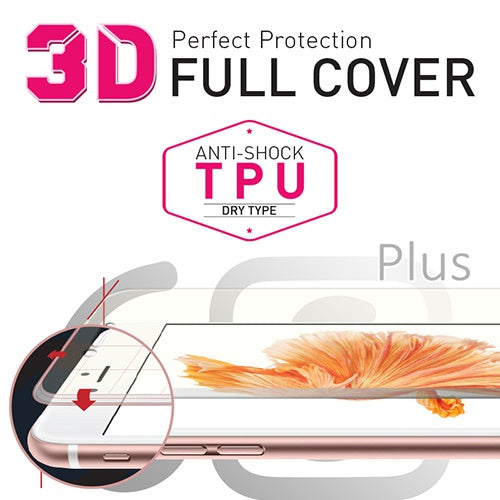 [BIOSHIELD]3D full cover anti-shock screen protector for iPhone 6S Plus (TPU)