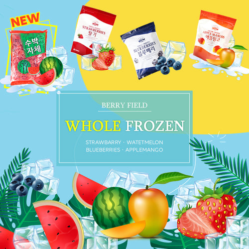 Whole Frozen 100% Real Fruit 1Kg/trawbarry/Watetmelon/Blueberries/Applemangos